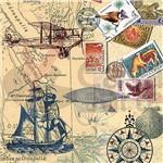 Guardanapo para Decoupage Toke e Crie - Gcd211312 Mapas e Selos 13177 (Com 02 Unidades)