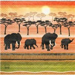 Guardanapo para Decoupage Toke e Crie Gcd211150 – 17717 – Elefantes Africanos (Com 02 Unidades)