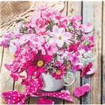Guardanapo para Decoupage Toke e Crie Gcd211545 – 17725 – Arranjo de Flores Pink (Com 02 Unidades)