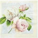Guardanapo para Decoupage Toke e Crie Gcd211237 – 17710 – Rosas Vintage (Com 02 Unidades)