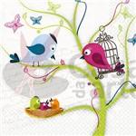 Guardanapo para Decoupage Toke e Crie - Gcd211386 Pássaro com Filhote 13184 (Com 20 Unidades)