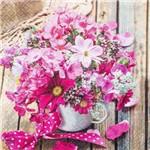 Guardanapo Toke e Crie Arranjo de Flores Pink - 5 Unid