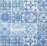 Guardanapo Toke e Crie Azulejos Azuis - 5 Unid