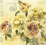 Guardanapo Toke e Crie Floral Romântico - 5 Unid
