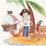 Guardanapo Toke e Crie Meninos Piratas - 5 Unid