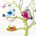 Guardanapo Toke e Crie Pássaros com Filhotes - 5 Unid