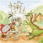 Guardanapo Toke e Crie Príncipe e Dragão - 5 Unid