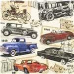 Guardanapos Carros Vintage com 2 Unidades Ref.17711-GCD211625 Toke e Crie