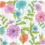 Guardanapos Flores Coloridas com 2 Unidades Ref.20995-GUA200423 Toke e Crie