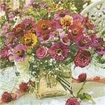 Guardanapos Flores Graciosas com 2 Unidades Ref.20450-GUA200375 Toke e Crie
