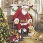 Guardanapos Papai Noel e Cachorro com 2 Unidades Ref.20467-GUA60698 Toke e Crie