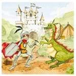 Guardanapos Principe e Dragão com 2 Unidades Ref.13185-GCD211378 Toke e Crie