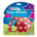 Guia Retrátil P/ Cães e Gatos 3 Metros Batiki Vermelho