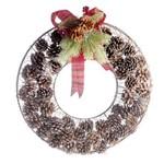 Guirlanda Decoração Natal 40cm Marrom