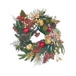 Guirlanda Decoração Natal C/frutas 23x23cm Vermelho