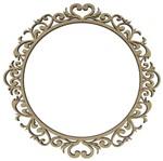 Guirlanda Redonda Arabescos Enfeite de Porta 35cm - Palácio da Arte