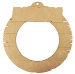Guirlanda Redonda Envelhecida Enfeite de Porta com Placa Envelhecida 25cm - Palácio da Arte