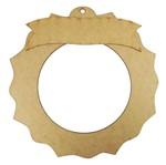 Guirlanda Redonda Sol Enfeite de Porta com Placa Mensagem 25cm - Palácio da Arte