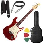 Guitarra Mod Fender Tagima Memphis Mg32 Vermelho Capa Cabo