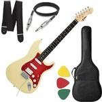Guitarra Phx Strato Power St H Sth Natural Creme Capa Alça