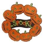 Halloween Placa Parede Decorativa Abóboras MDF