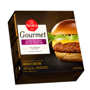Hambúrguer Bovino Seara Gourmet Hamburgueria Mix de Pimentas 360g (2x180g)