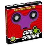 Hand Spinner Anti Stress Certificado - Fidget Giro Spinner - Roxo - Dtc