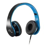 Headphone com Microfone Multilaser Preto e Azul Ph113