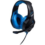 Headset Gamer Multilaser Warrior Ph244 Stereo Led Azul