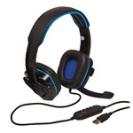 Headset Gamer Usb Pc, Notebook, Ps3, Ps4 - Knup Kp-357 Cor Azul