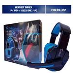 Headset Gamer Xbox One Ps4 Pc Som do Jogo e Chat P2/P3 Feir Fr-512 Azul
