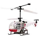 Helicóptero Lighting Radio Controle 3 Canais Branco/Vermelho - Candide