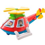 Helicóptero Pedagógico Calesita Helico - 4 Acessórios - Vermelho/branco/amarelo