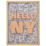 Hello Ny Quadro 45 Cm X 60 Cm Natural/multicor