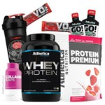 Hipertrofia Muscular Rápido - Whey Wey Way Concentrado Isolado Blend + Colageno Athletica Nutrition