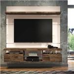 Home Suspenso Hb Móveis Livin 1.6 para Tv Até 55'' 2 Portas Basculantes Off White/Deck