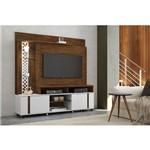 Home Theater para Tv Vitral Canyon com Branco - Hb Móveis