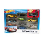 Hot Wheels Caixa de 10 Carros Sortidos - Mattel