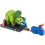 Hot Wheels City Conjunto Ataque de Triceratops Cidade Global Nemesis GBF97 Mattel