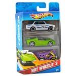 Hot Wheels com 3 Carros Modelo 8 - Mattel