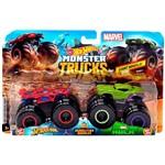 Hot Wheels Monster Trucks Homem Aranha Vs Hulk - Mattel