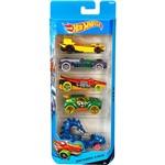 Hot Wheels Pacote 5 Carros 0186/CDT19 Dino Riders - Mattel