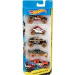 Hot Wheels Pacote 5 Carros 0186/CDT24 Desert Force - Mattel