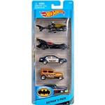 Hot Wheels Pacote 5 Carros 0186/CDT28 Batman - Mattel