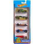 Hot Wheels Pacote 5 Carros 0186/DJD15 Track Stars - Mattel