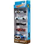 Hot Wheels Pacote 5 Carros Crazy Croc Batman Vs Superman - Mattel