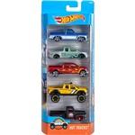Hot Wheels Pacote 5 Carros Crazy Croc Hot Trucks - Mattel