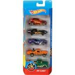 Hot Wheels Pacote 5 Carros Crazy Croc HW Flames - Mattel