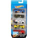 Hot Wheels Pacote 5 Carros Crazy Croc Races Aces - Mattel