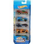 Hot Wheels Pacote 5 Carros Crazy Croc Track Buider System - Mattel